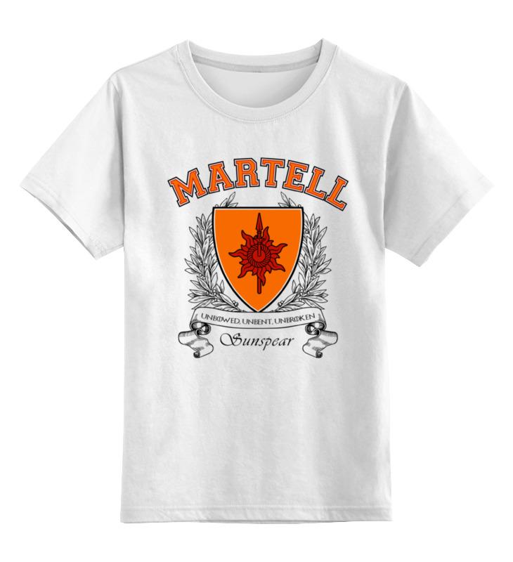 Фото - Детская футболка классическая унисекс Printio Игра престолов. дом мартеллов майка борцовка print bar дом мартеллов