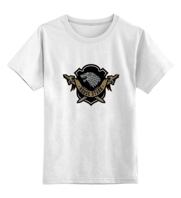 цена на Детская футболка классическая унисекс Printio House stark