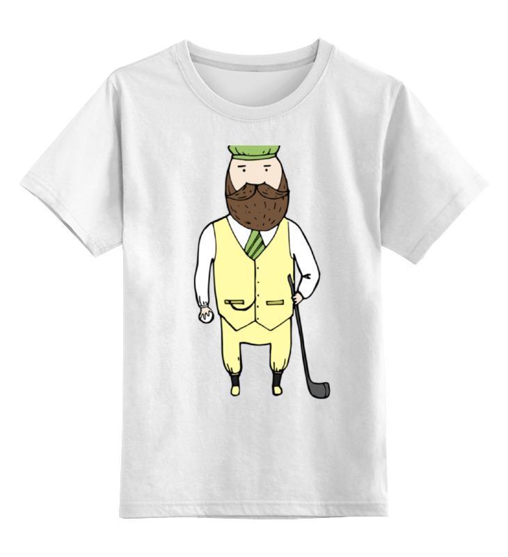 Детская футболка классическая унисекс Printio Джентльмен с клюшкой для гольфа одежда для гольфа pgm kuz010 golf
