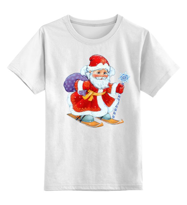 Детская футболка классическая унисекс Printio Дед мороз с мешком подарков копилка декоративная sima land мартышка и дед мороз с мешком подарков цвет синий красный коричневый