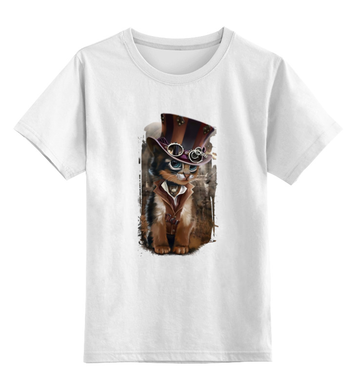 Детская футболка классическая унисекс Printio Кот граф матрас dimax твист ролл симпл 11 120x195