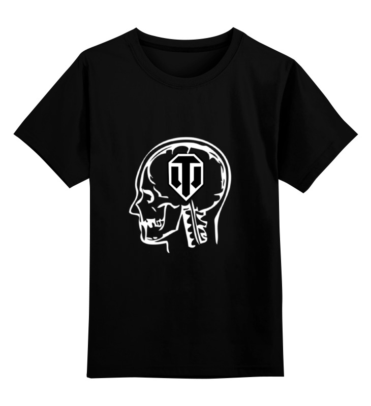 Детская футболка классическая унисекс Printio Skull wot bosch wot 20255