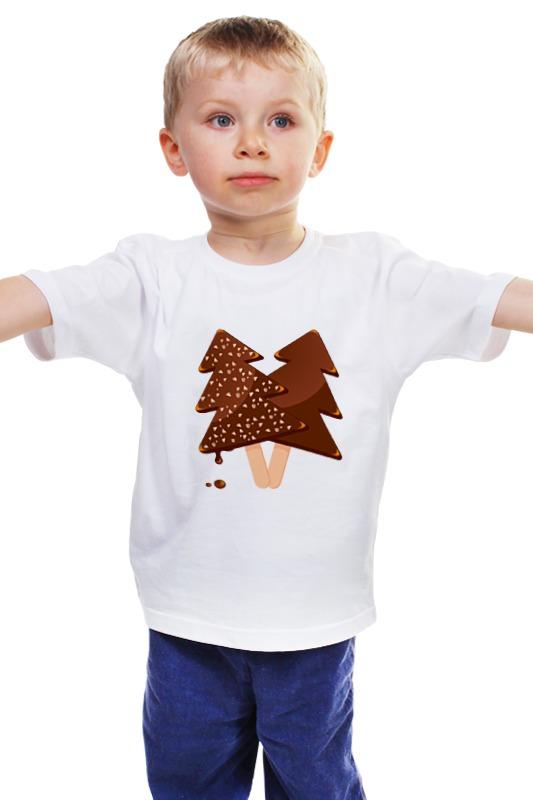 Детская футболка классическая унисекс Printio Мороженое ручка шариковая шоколадное мороженое