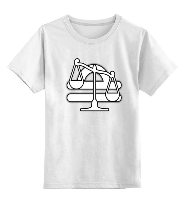 Детская футболка классическая унисекс Printio Знак зодиака весы. детская футболка классическая унисекс printio знак зодиака лев