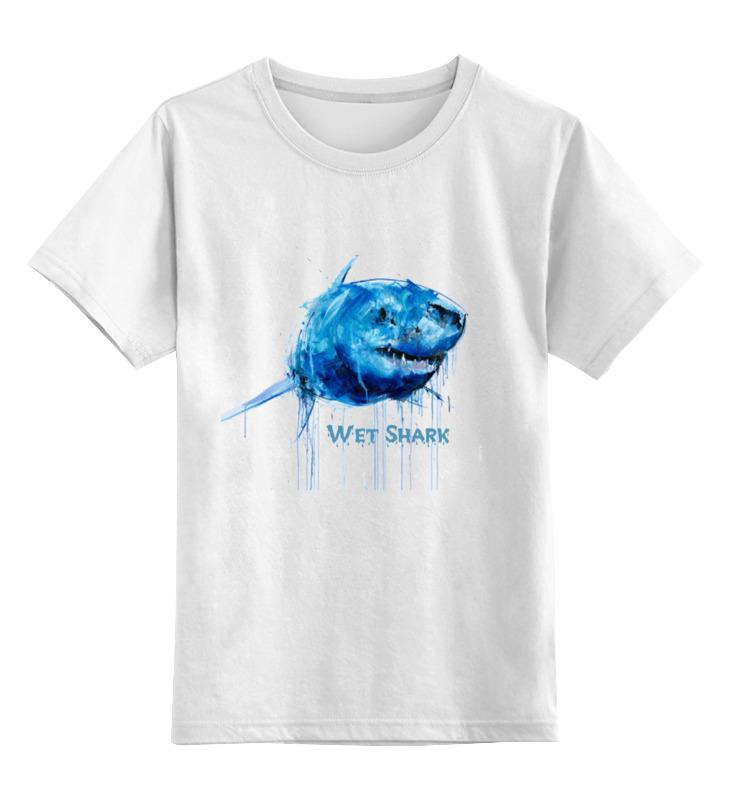 купить Детская футболка классическая унисекс Printio Акула по цене 530 рублей