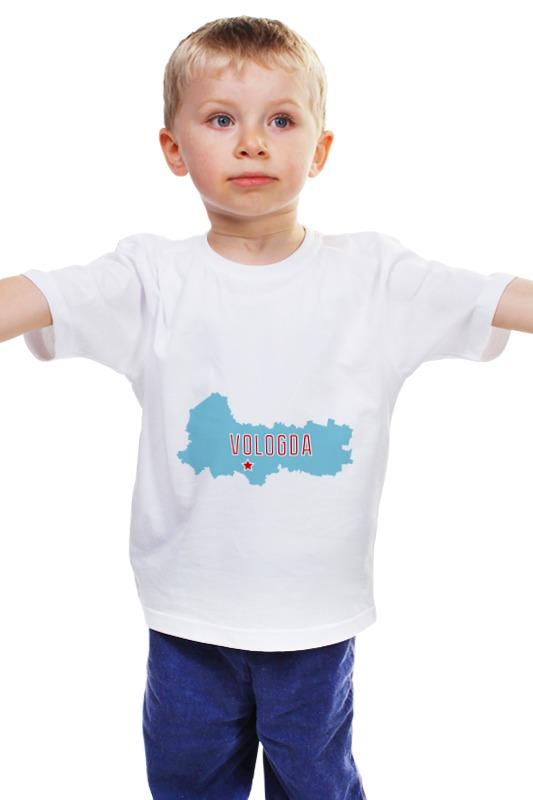 Детская футболка классическая унисекс Printio Вологодская область. вологда г вологда ваз 21093