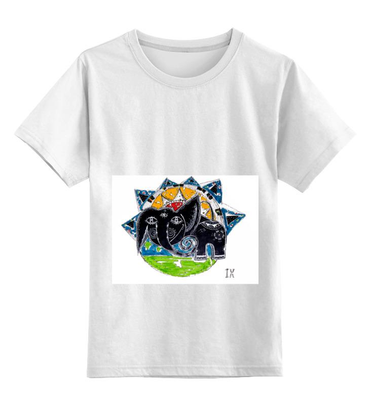 Детская футболка классическая унисекс Printio Слоник детская футболка классическая унисекс printio художник