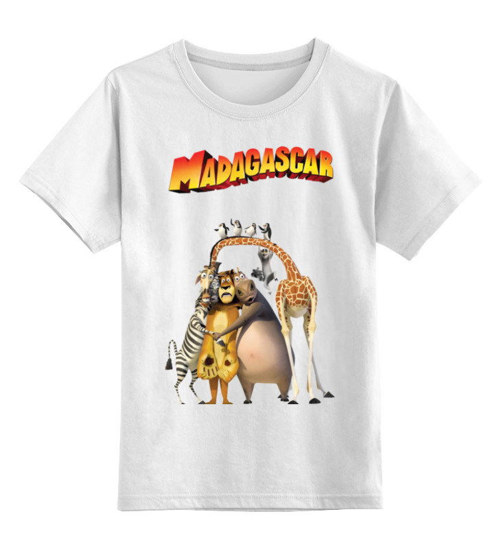 Детская футболка классическая унисекс Printio Мадагаскар