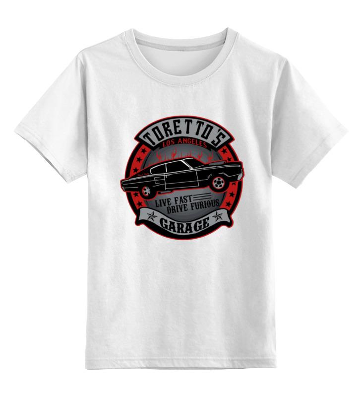 Детская футболка классическая унисекс Printio Гараж торетто (форсаж) майка классическая printio гараж торетто