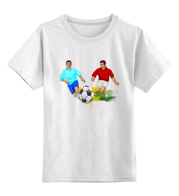 Детская футболка классическая унисекс Printio Футболисты игра футболисты и красавицы барбоскины