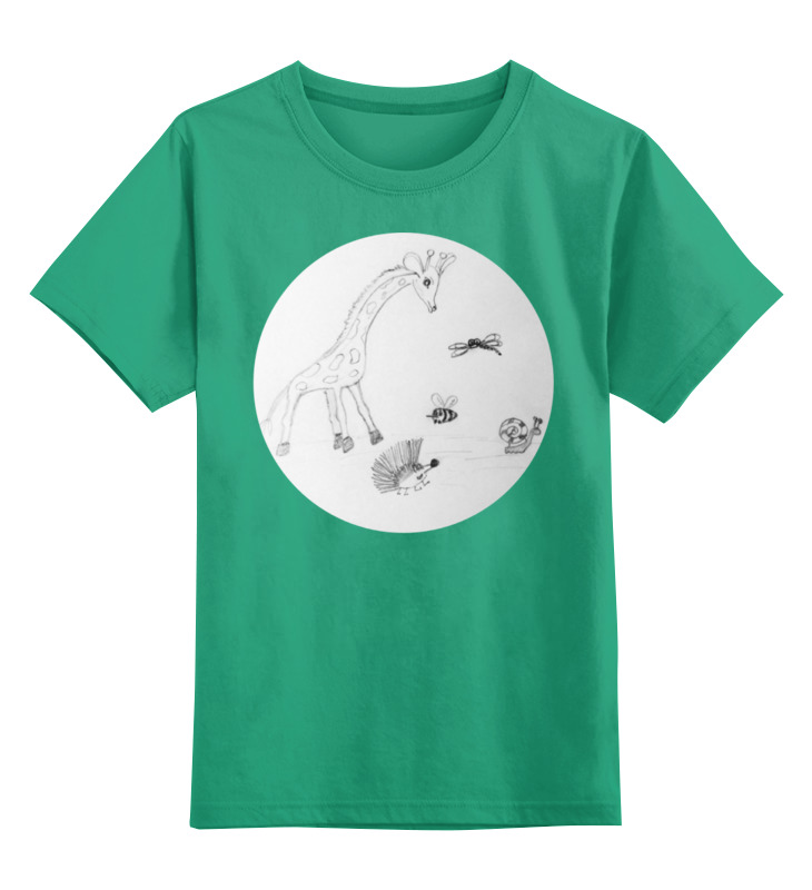 Детская футболка классическая унисекс Printio Жираф и друзья цена 2017
