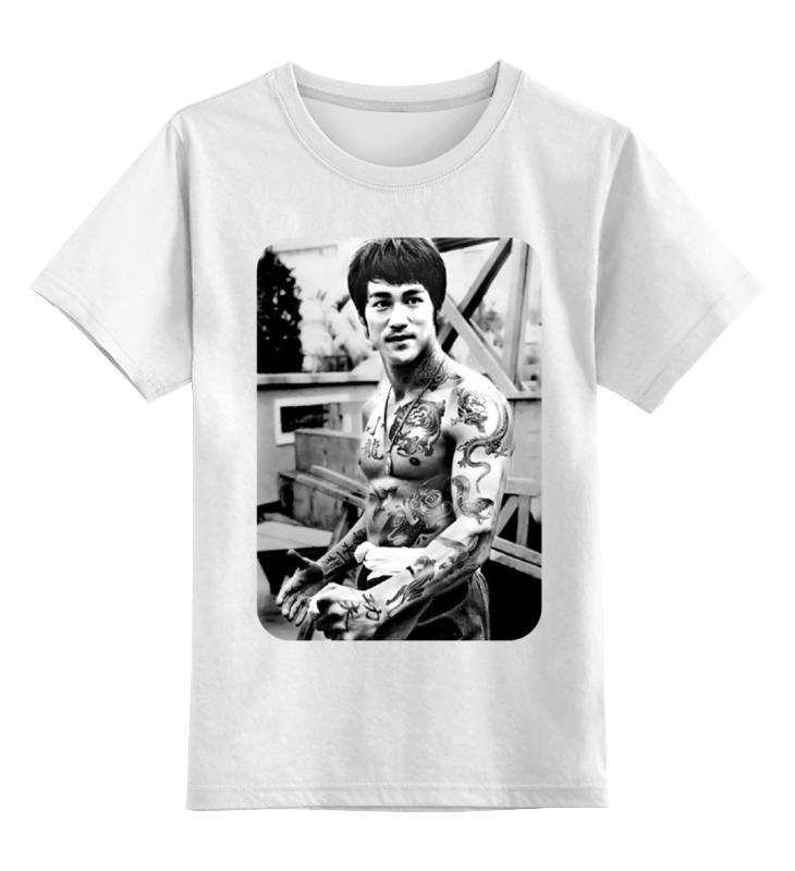 Детская футболка классическая унисекс Printio Брюс ли с тату ли эймис рисуем вместе с ли эймисом разнообразные объекты