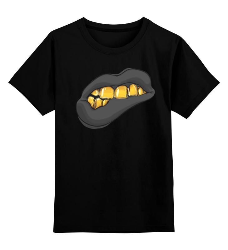 Детская футболка классическая унисекс Printio Золотая ухмылка