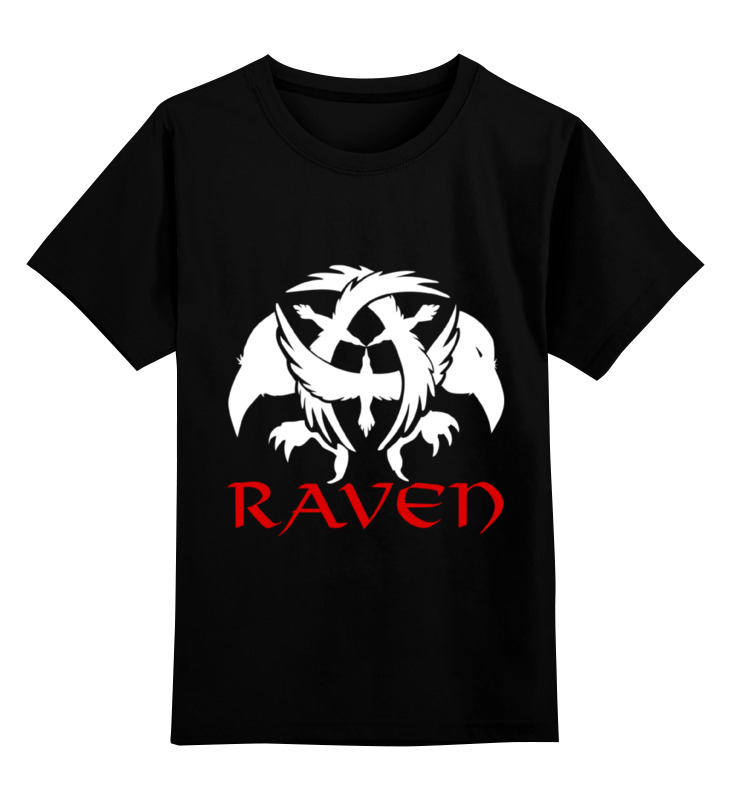 Детская футболка классическая унисекс Printio Raven brand chantecaille luster glide silk infused eye liner raven цвет raven