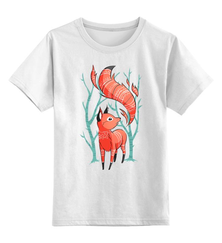 Детская футболка классическая унисекс Printio Зимняя лиса детская футболка классическая унисекс printio fox лиса