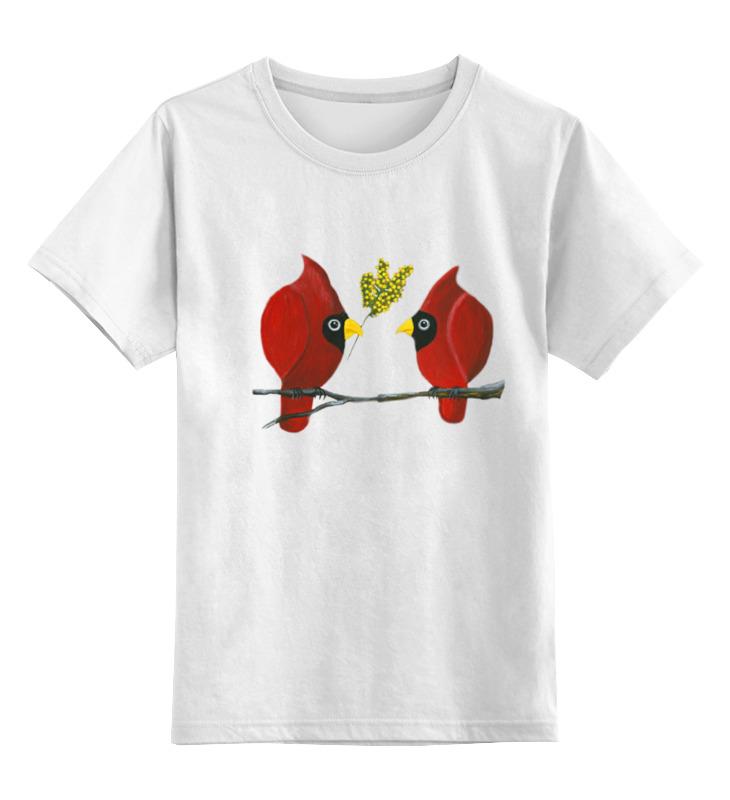 Детская футболка классическая унисекс Printio Свидание на ветке