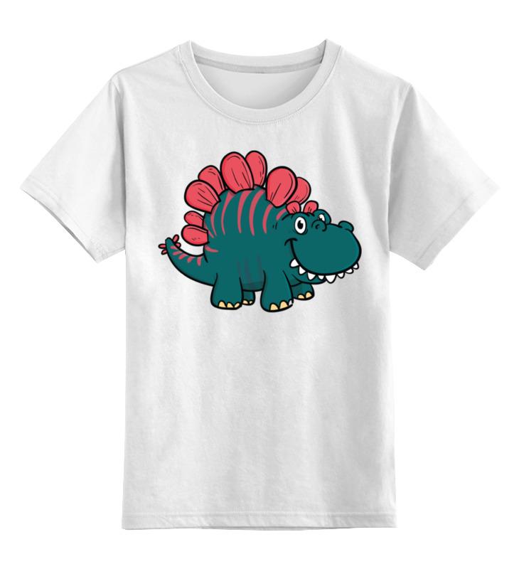 Детская футболка классическая унисекс Printio Бронтозаврик цена и фото