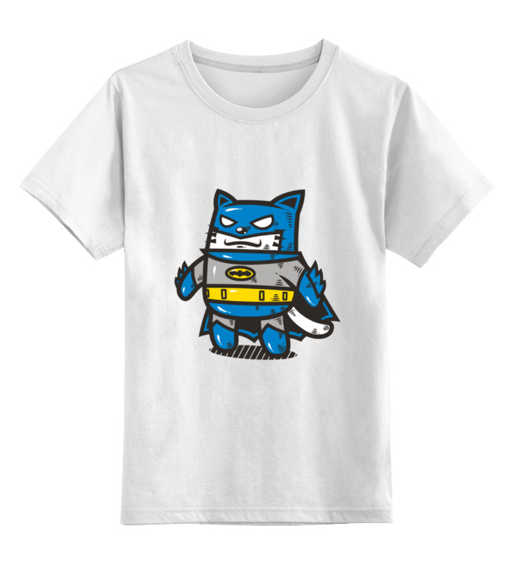 Детская футболка классическая унисекс Printio Кот бетмэн