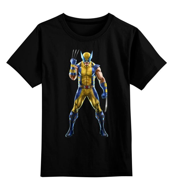 Детская футболка классическая унисекс Printio Wolverine / росомаха детская футболка классическая унисекс printio x men wolverine