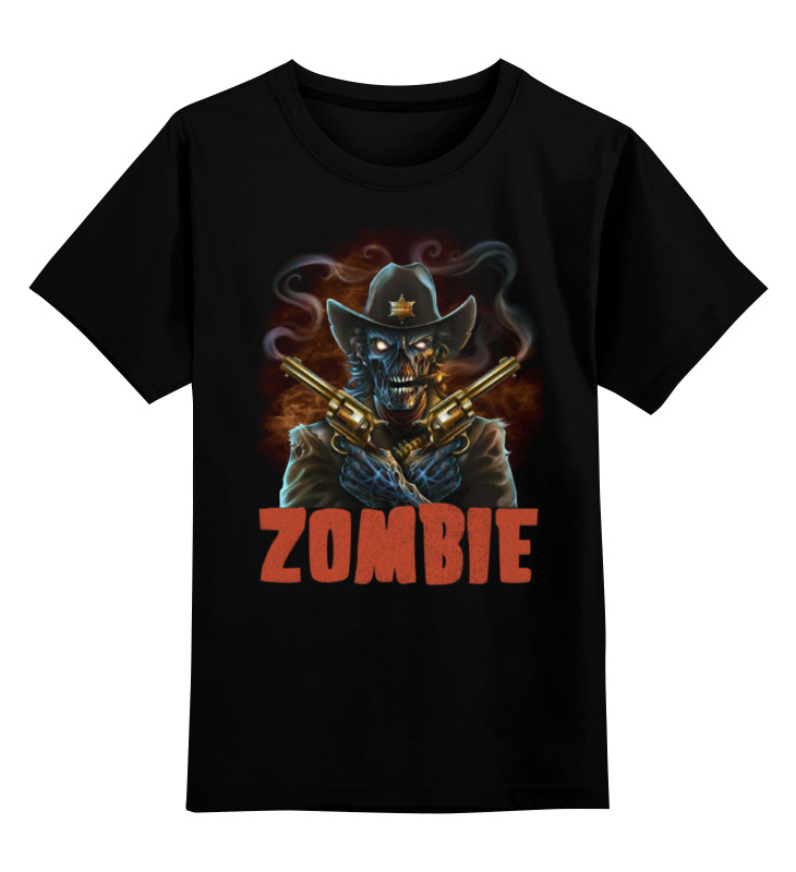 Детская футболка классическая унисекс Printio Zombie sheriff брелок автосигнализации sheriff 2500 ver 1