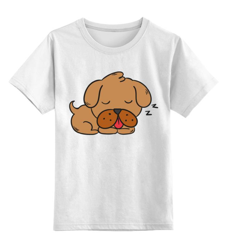 Детская футболка классическая унисекс Printio Спящий щенок детская футболка классическая унисекс printio слоник