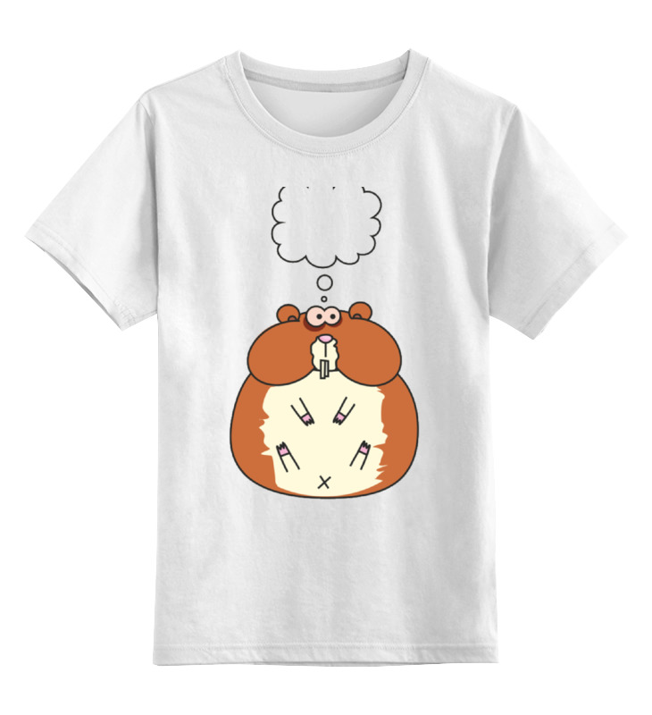 Printio Хомячёк думает детская футболка классическая унисекс printio о красоте