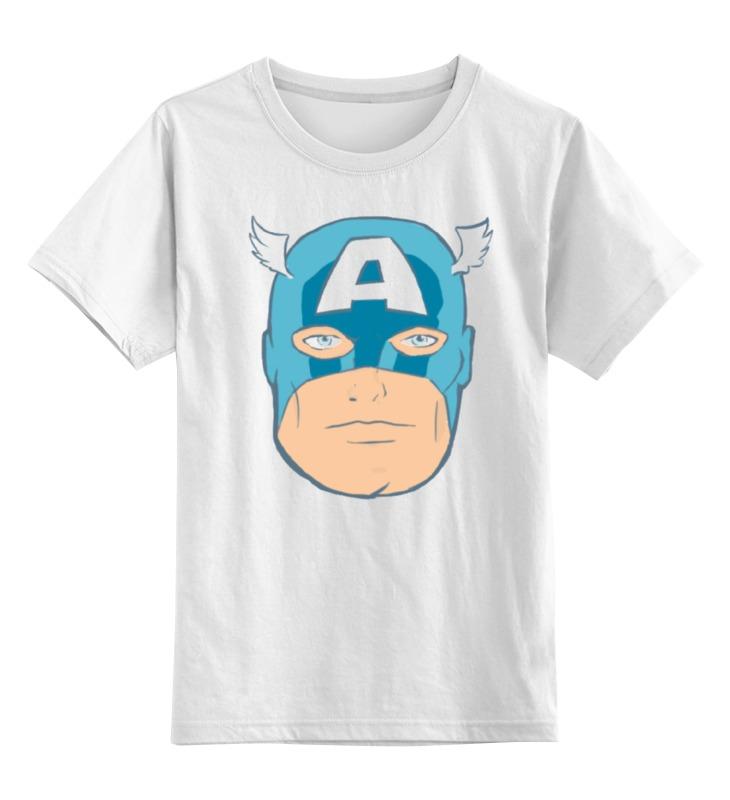 Детская футболка классическая унисекс Printio Капитан америка. винтаж капитан детская и взрослая модульная мебель мдф