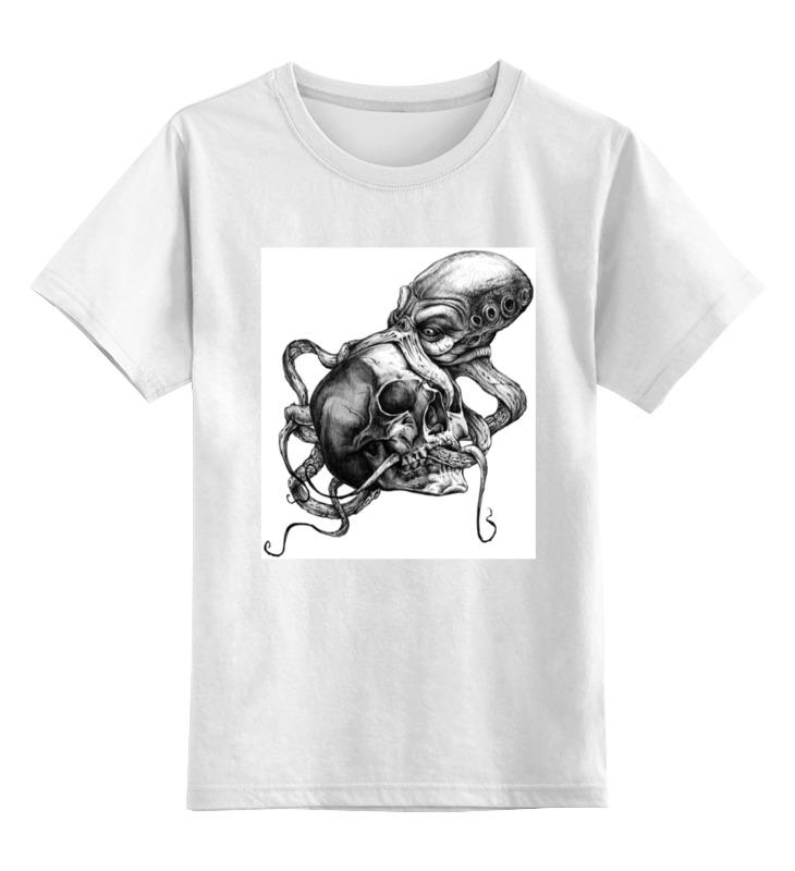 Детская футболка классическая унисекс Printio Black ocean