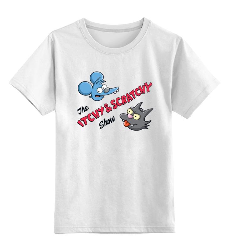 Детская футболка классическая унисекс Printio Щекотка и царапка (симпсоны) кружка printio щекотка и царапка