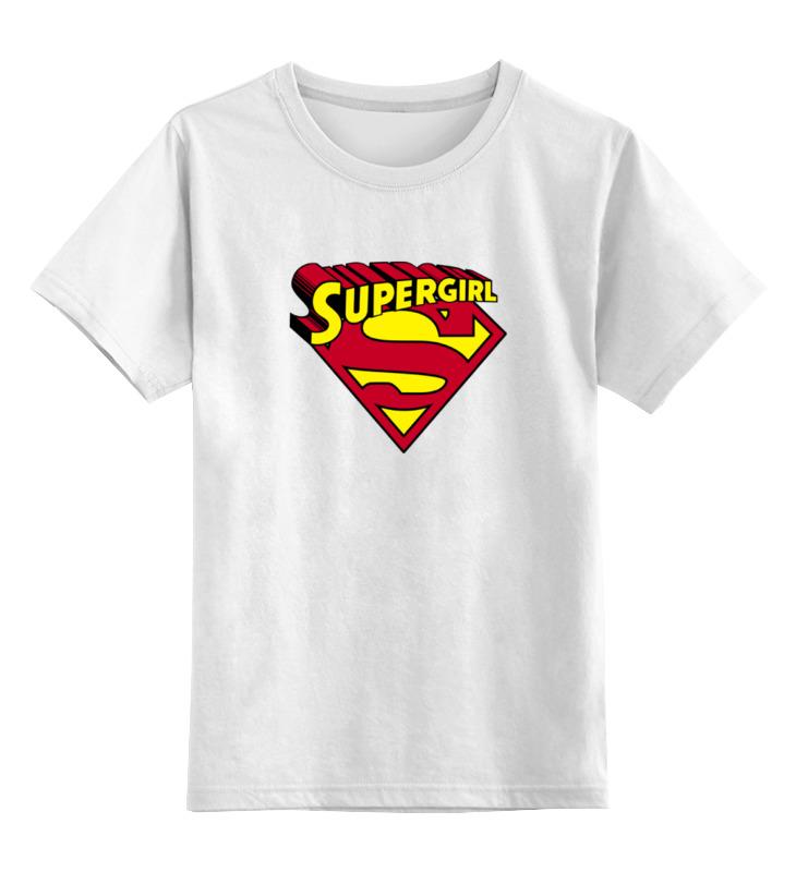 Детская футболка классическая унисекс Printio Супер девушка детская футболка классическая унисекс printio девушка в париже