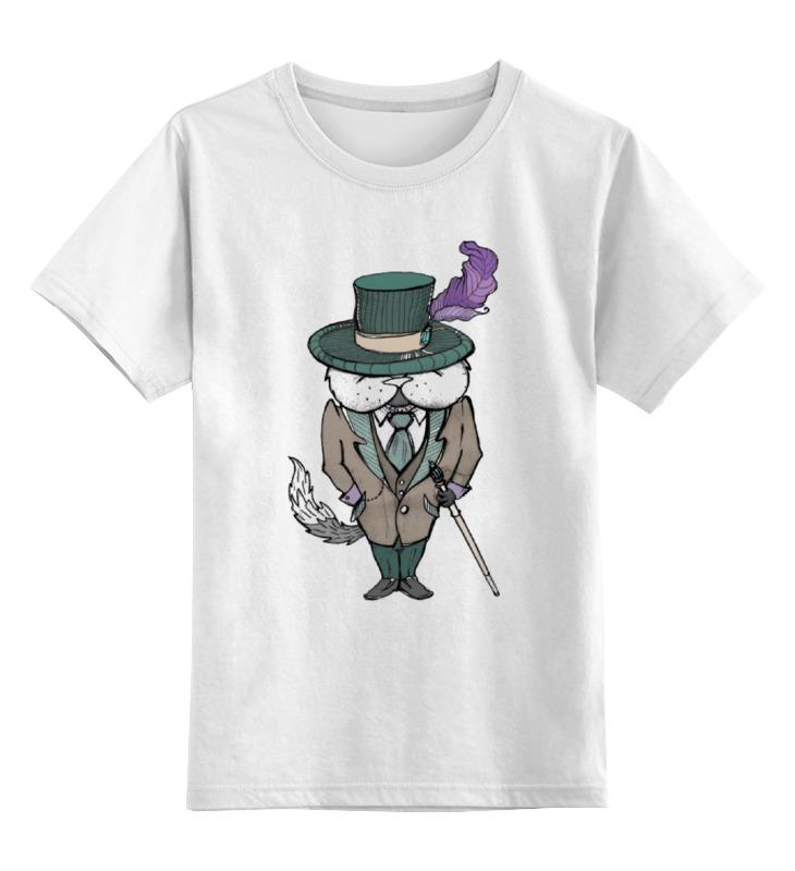 Детская футболка классическая унисекс Printio Кот-бегемот телефон бегемот