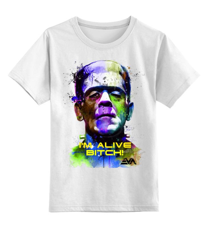 Детская футболка классическая унисекс Printio Арт франкенштейн