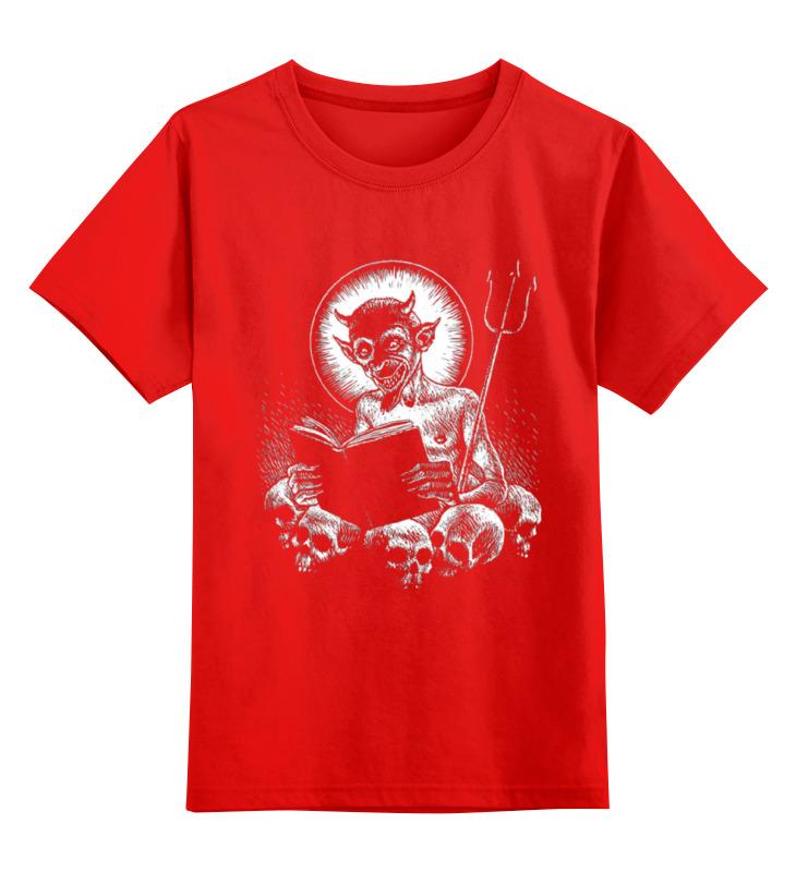 Детская футболка классическая унисекс Printio Devil smoby детская горка king size цвет красный