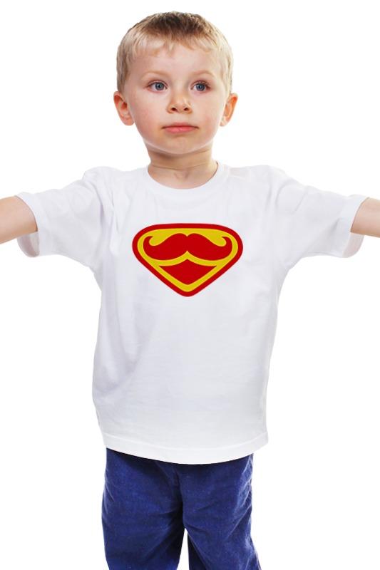 Детская футболка классическая унисекс Printio Супермен-усач-бородач детская футболка классическая унисекс printio бородач