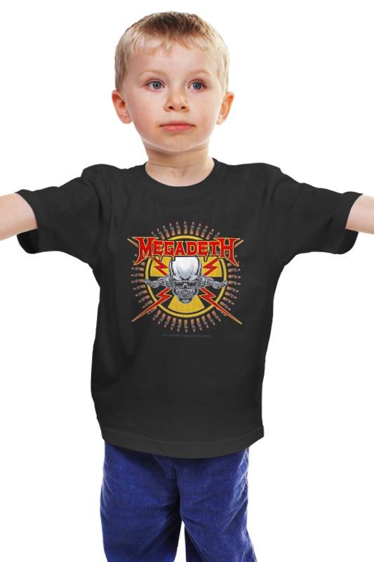 Детская футболка классическая унисекс Printio Megadeth детская футболка классическая унисекс printio мачете