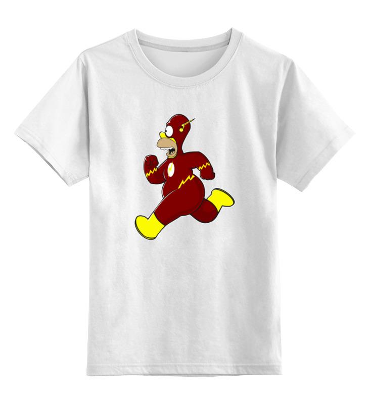 Детская футболка классическая унисекс Printio Гомер молния