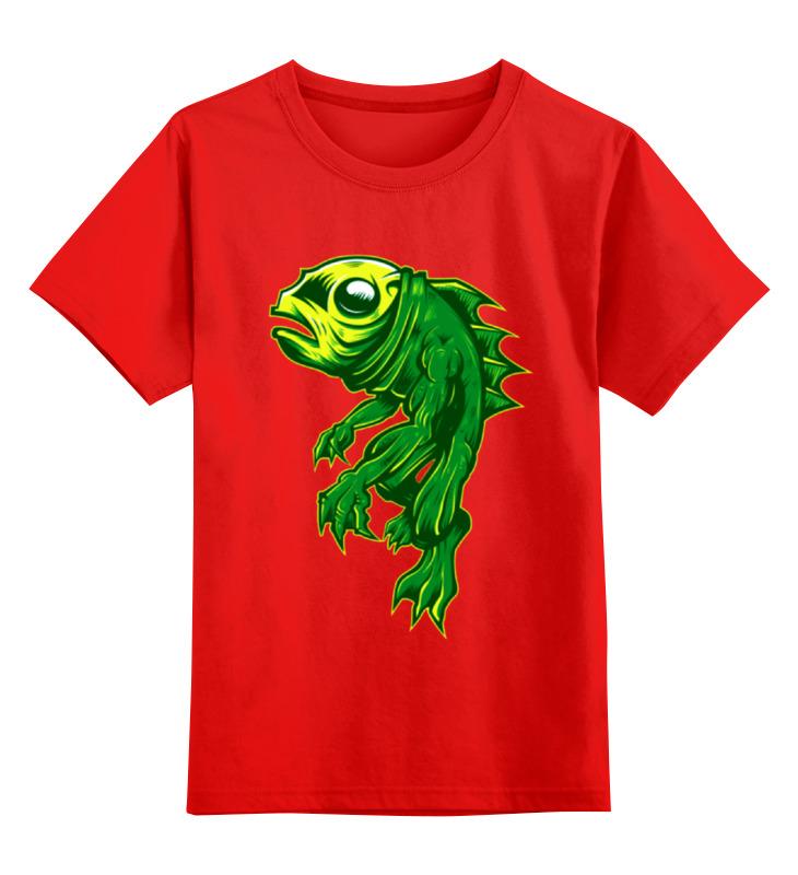 Детская футболка классическая унисекс Printio Рыбка август пазл для малышей рыбка цвет основы красный