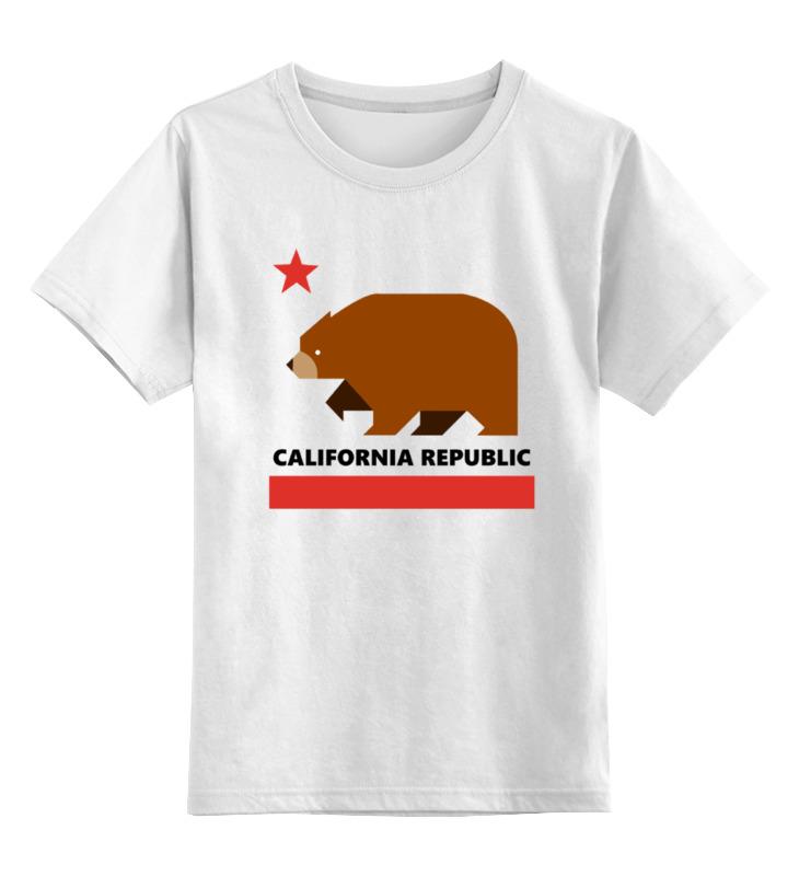 Детская футболка классическая унисекс Printio Калифорния (медведь)