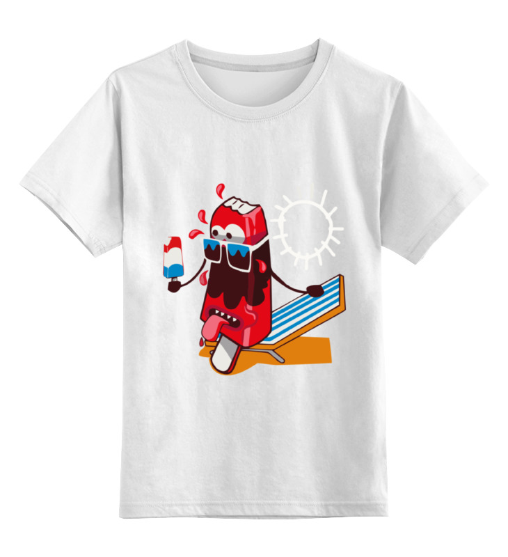 цена Детская футболка классическая унисекс Printio ice cream онлайн в 2017 году