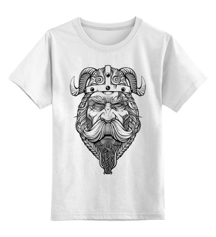 Детская футболка классическая унисекс Printio Старый викинг - мудрый воин! детская футболка классическая унисекс printio суровый викинг