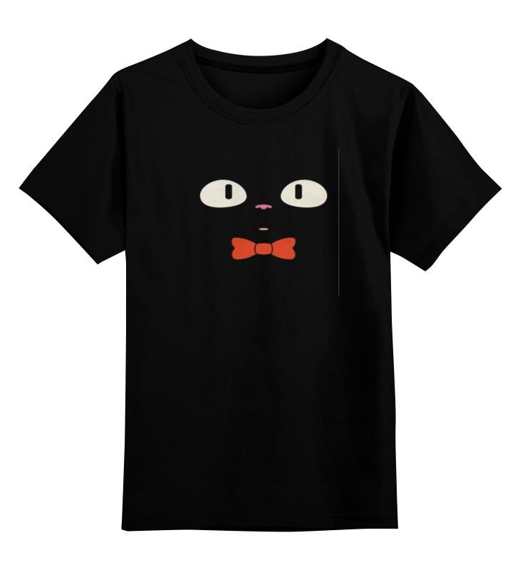 Детская футболка классическая унисекс Printio Чёрный кот mymei чёрный цвет