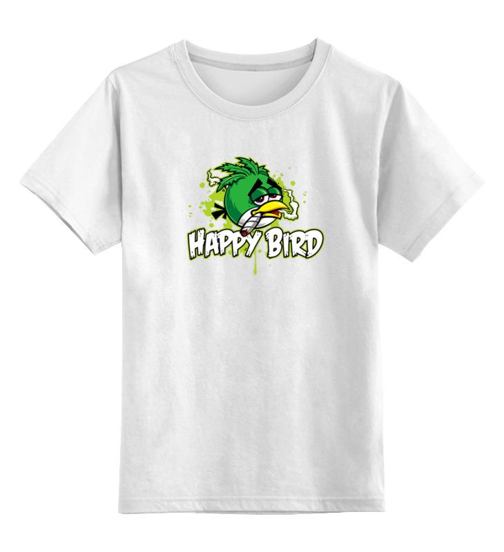 Детская футболка классическая унисекс Printio Happy bird цена и фото