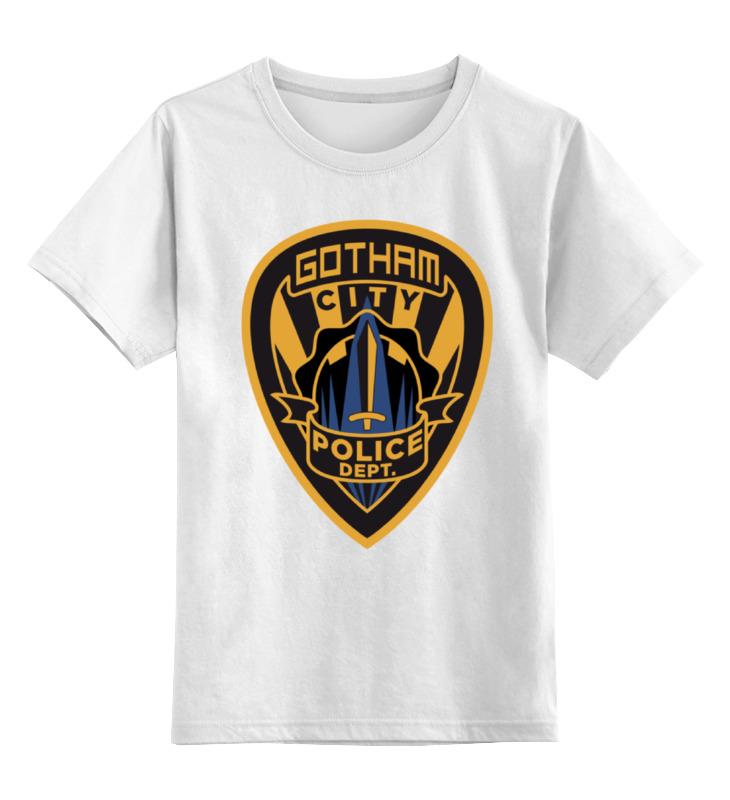 Детская футболка классическая унисекс Printio Полиция готэма (бэтмен) детская сити