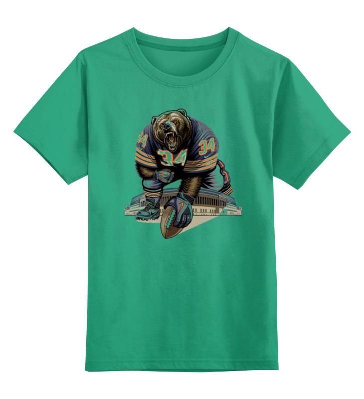 Детская футболка классическая унисекс Printio Медведь спортсмен цена