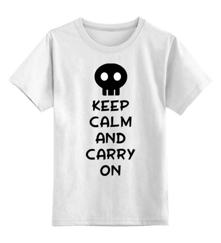 Детская футболка классическая унисекс Printio Keep calm and carry on лонгслив printio keep calm and carry on