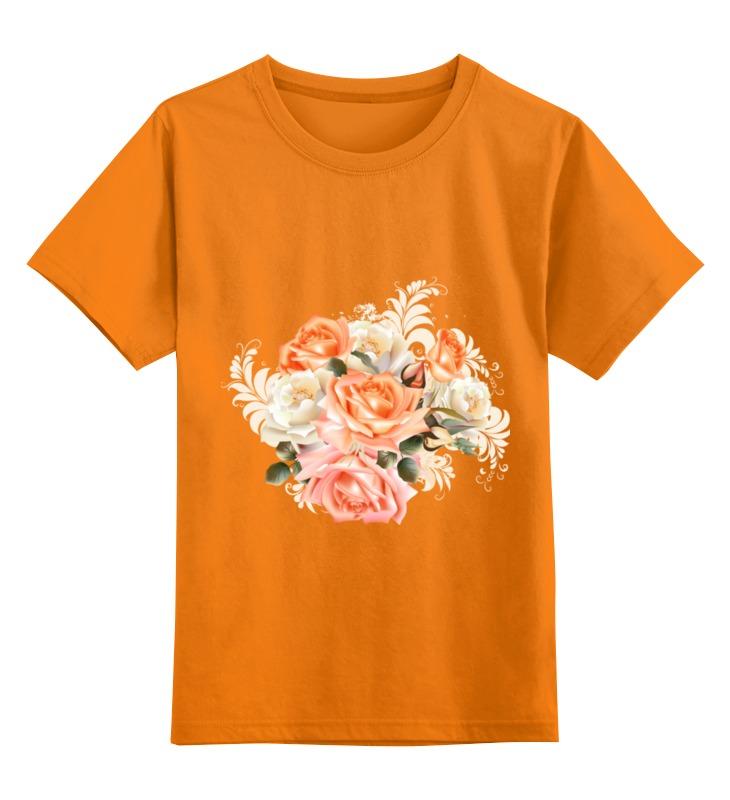Детская футболка классическая унисекс Printio Чайная роза 12storeez платье футболка с разрезами чайная роза
