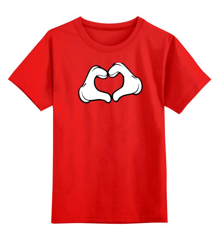 Детская футболка классическая унисекс Printio Сердце