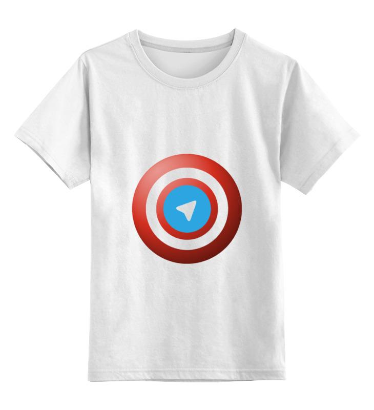 Детская футболка классическая унисекс Printio Лого telegram