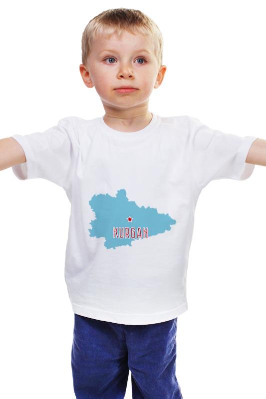 Детская футболка классическая унисекс Printio Курганская область. курган