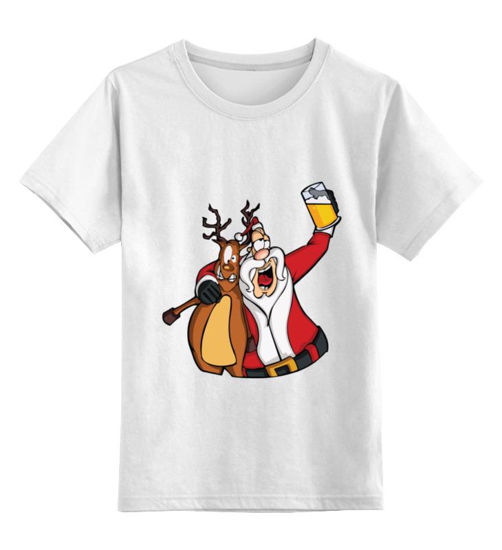 Детская футболка классическая унисекс Printio Дед мороз украшение новогоднее оконное magic time дед мороз с самоваром двустороннее 30 х 32 см